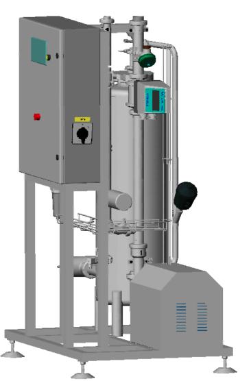 Пост приемки молока ЗАО ПлаваРБ, трехмерная модель, компоновка, расходомер Сименс, клапан Бюркерт